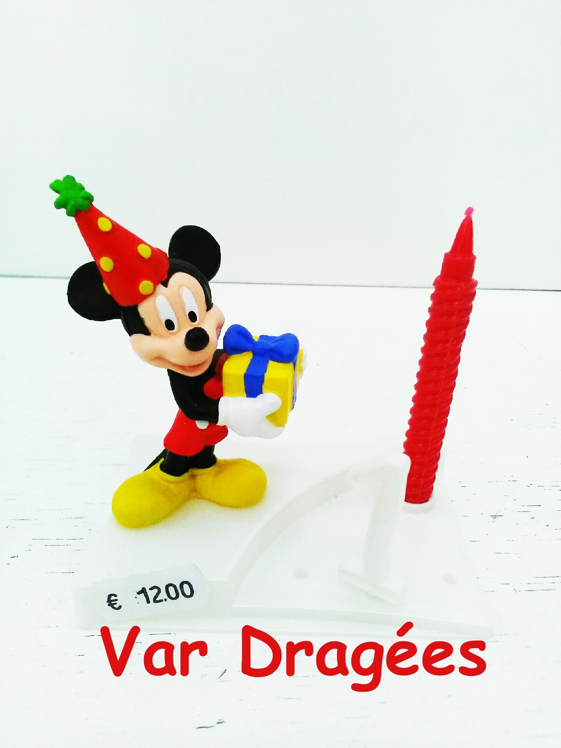 Nouvelle Bougie Mickey anniversaire