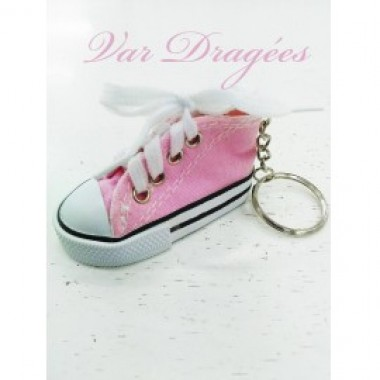 Lot de 10 Converses porte-clefs roses - photo 0